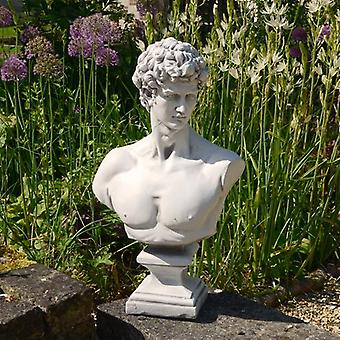Solstice Sculptures David Bust White Stone Effect Statue