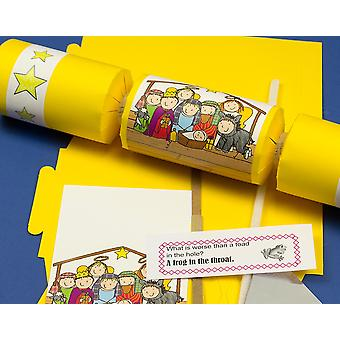 Single Make Your Own Fun Nativity Christmas Cracker Craft Kit