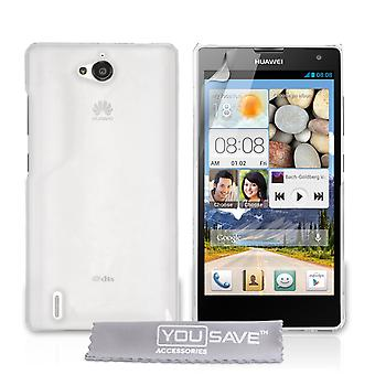 Yousave Accessories Huawei Ascend G740 Hard Case - Crystal Clear