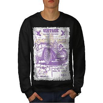 Voiture Old School Vintage hommes BlackSweatshirt | Wellcoda
