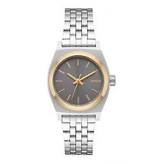 Nixon o contador de tempo pequeno de prata / ouro / cinza (A3992477)