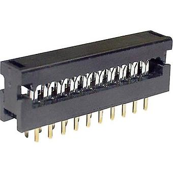 Edge connector (receptacle) LPV25S26 Total number of pins 26 No. of rows