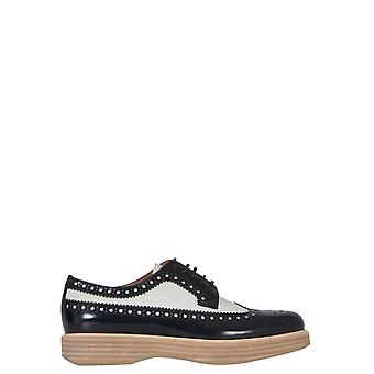 Church's ladies A741319IPF0ABU white/black leather lace-up shoes