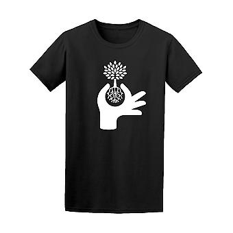 Hand Protecting Plant Eco Graphic Tee - Image by Shutterstock