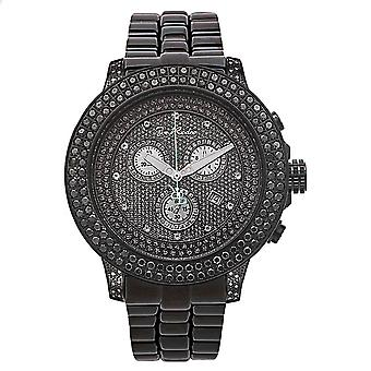 Joe Rodeo diamond men's watch - PILOT black 5.85 ctw