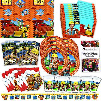 Bob of the Builder party Kit XL 57-teilig for 6 guests Bobparty birthday decoration party package