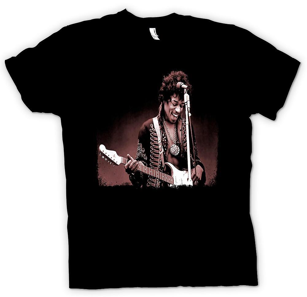Barn T-shirt - Jimi Hendrix - Sepia - porträtt