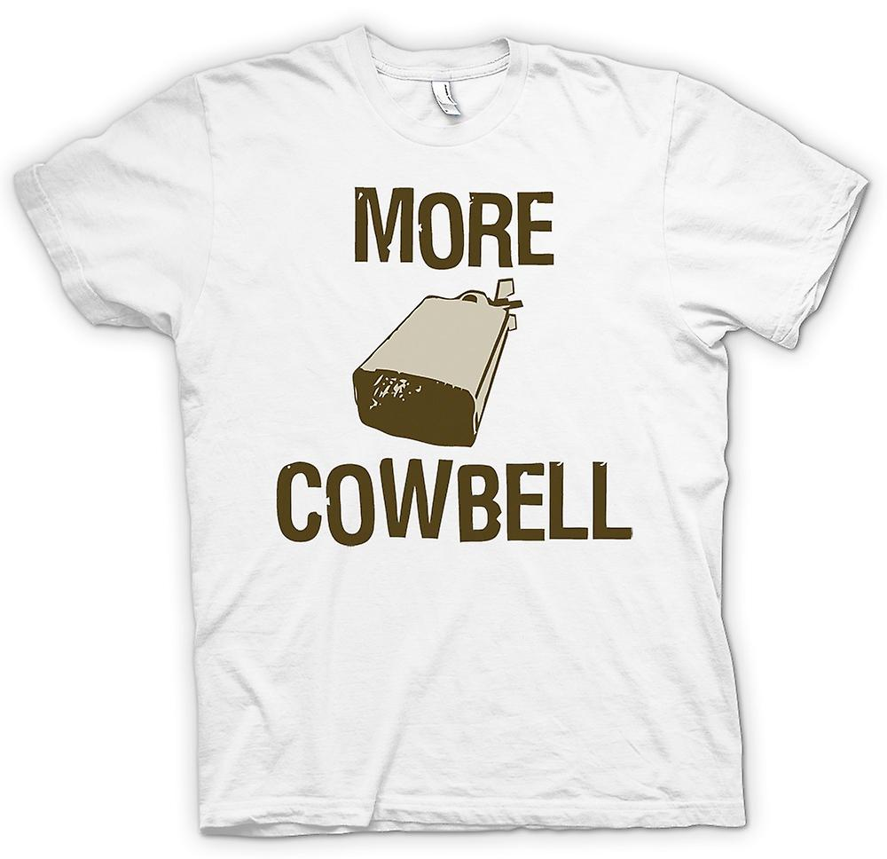 Mens t-shirt - più Cowbell - preventivo