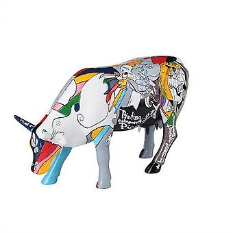 Cow Parade Picowso skole for kunst (stor)