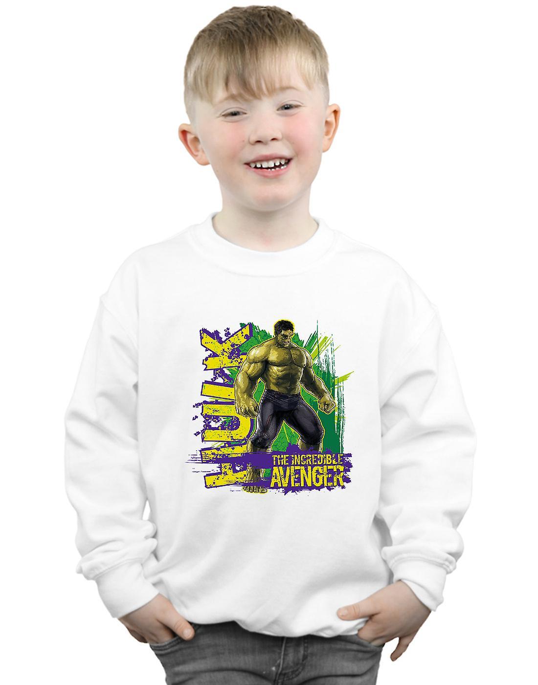 Marvel Boys Avengers Hulk Incredible Avenger Sweatshirt