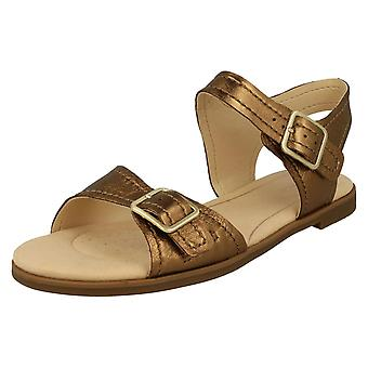 Ladies Clarks Casual Slingback Sandal Bay Primrose - Bronze Leather - UK Size 5.5D - EU Size 39 - US Size 8M