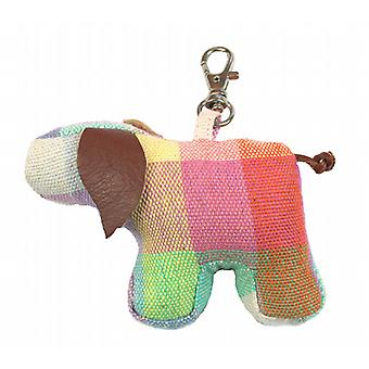 Elma Check Pig Bag or Key Charm by Monica Richards