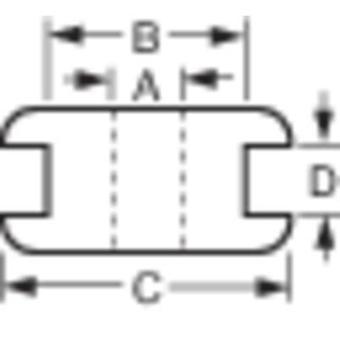 Kabeltülle Terminal Ø (max.) 12 mm PVC schwarz 1 PC