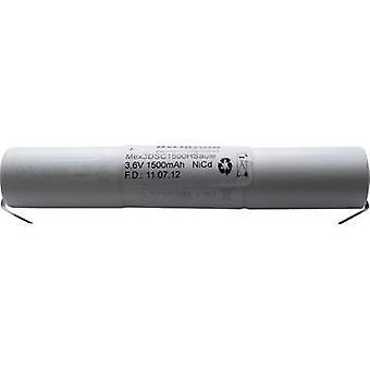Emergency light battery U solder tab 3.6 V 1500 mAh