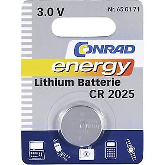 Button cell CR2025 Lithium Conrad energy CR2025 14