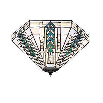 Intérieurs 1900 Lloyd 2 lumière Tiffany modèle encastré au plafond raccord