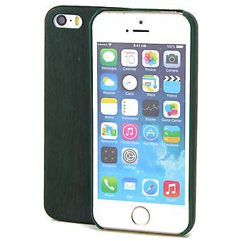 Apple iPhone 5 / 5 s / protezione mobile cassa legno ottica SE TPU caso Grün cover