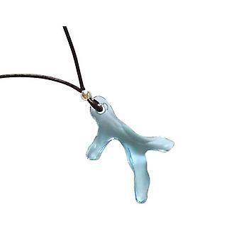 Kæde halskæde JAMIE koral blå 925 sølv med krystal element