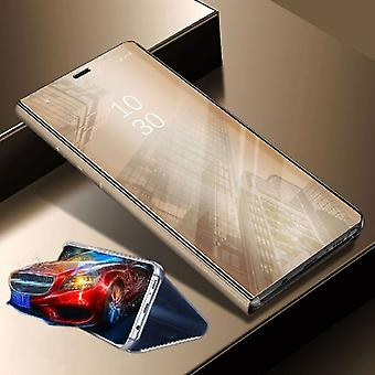 For Xiaomi POCO Pocofone F1 clear view mirror mirror smart cover gold protective case cover pouch bag case new case wake UP function