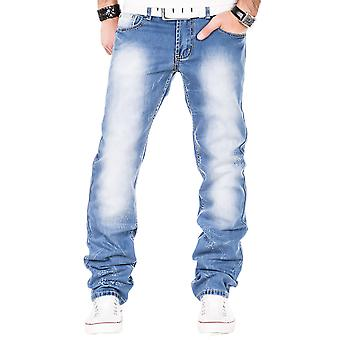 Kosmo Lupo mens jeans blue