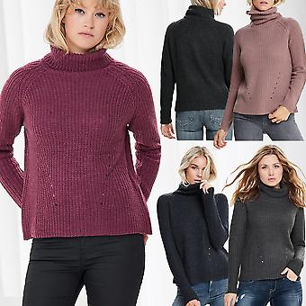 JDY Ladies Turtleneck Sweater Knitted Knit Sweater JDYJUSTY L/S High Neck