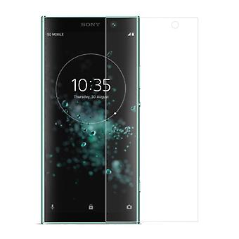 Sony Xperia XA2 plus tank protection display glass tank slide 9 H glass - 5 units