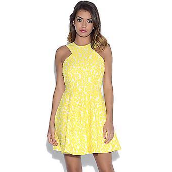 AX Paris Paisley blonder Skater kjole