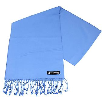 Knightsbridge Neckwear plaine Echarpe - bleu clair