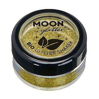 Biodegradable Eco Glitter Shakers by Moon Glitter - 100% Cosmetic Bio Glitter for Face, Body, Nails, Hair and Lips - 5g - Gold