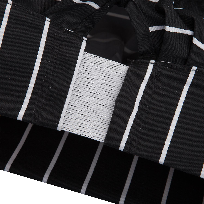 TRIXES Professional Kitchen Chef Hat Black & White Stripe