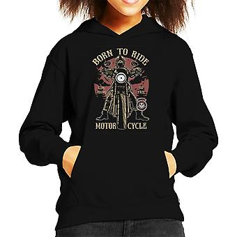 Born To Ride Motorcycles Kid's Hooded Sweatshirt