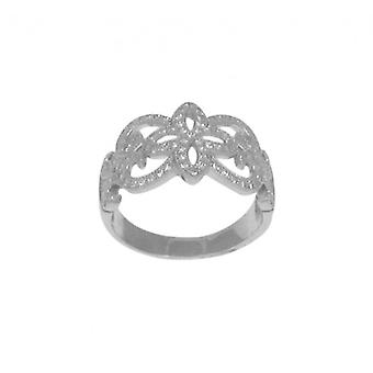 Cavendish French Ornate Silver and Micro Set CZ Ring