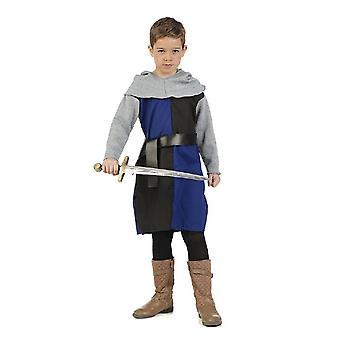 Krigere Knight Squire fekter unggutter kostyme barn drakt