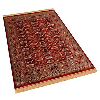 Large Red Traditional Persian Bokhara Artificial Faux Silk Effect Rugs 8438/12 160 x 230cm