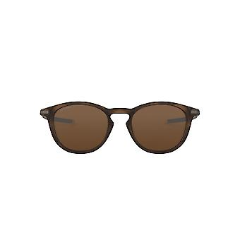 Oakley Pitchman R Sunglasses In Polished Brown Tortoise Tungsten Prizm Polarised