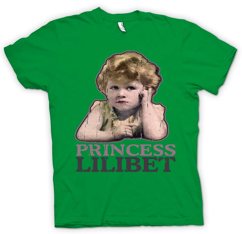 Mens T-shirt - Princess Lilibet - Queen Elizabeth 2nd