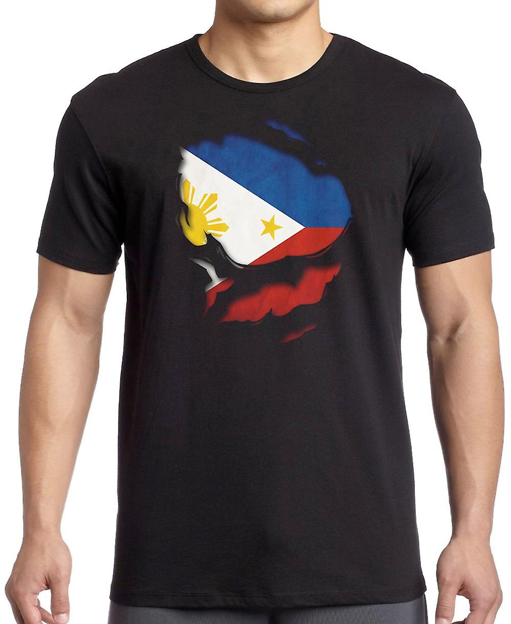 Filipino Phillipines Ripped Effect Under Shirt Women T Shirt