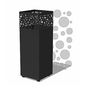 Burni vuurzuil I cortenstaal 40x40x100 cm - zwart