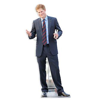 Prins Harry Lifesize papp åpning / Standee / Standup