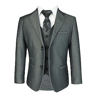 Cavani Boys Charcoal Grey Slim Fit Suit