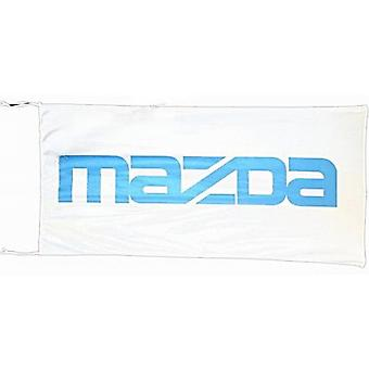Large Mazda flag (white bgrd) 1500mm x 900mm    (ob of)