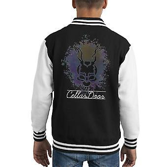 Donnie Darko Frank kelder deur Montage Kid's Varsity Jacket
