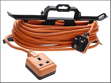 Masterplug Garden Extension Lead 240 Volt on H Frame 15 Metre