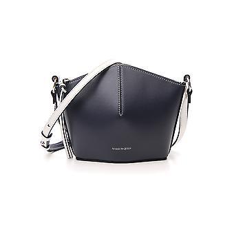 Alexander Mcqueen White/black Leather Shoulder Bag