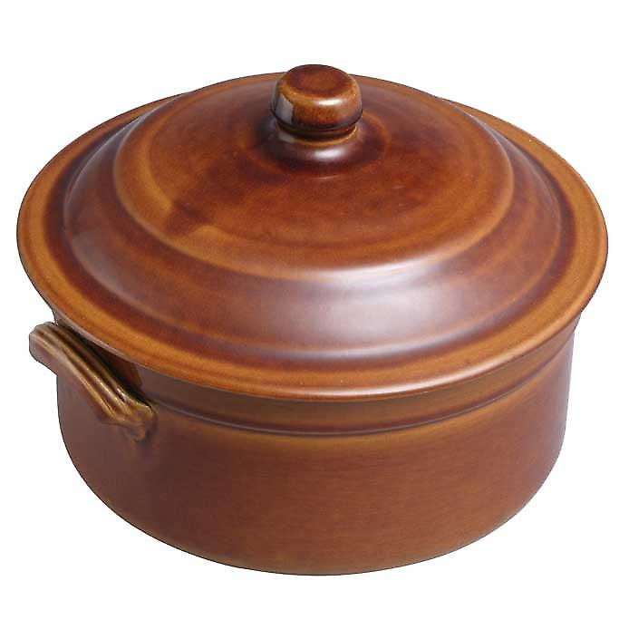 Digoin number 3 0.9 litre / 16 cm round caserole dish and lid
