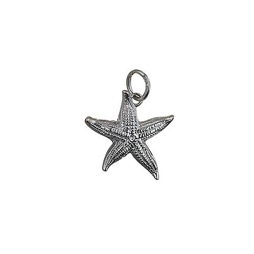 Silver 19x19mm Starfish Pendant or Charm