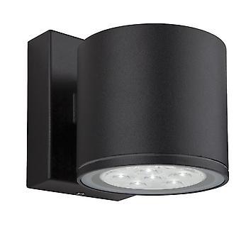 Firstlight-LED 6 luz de una sola pared negro IP44-8084BK