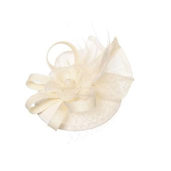 Intrigue Womens/Ladies Large Linen Look Floral Fascinator Clip