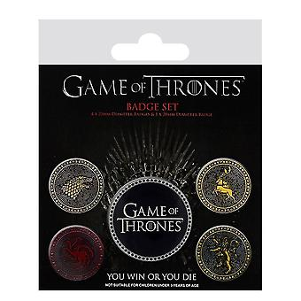 Game of Thrones The Four Great Houses Badge Pack