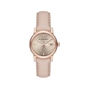 Burberry Bu9131 Rose Dial Rose Gold Ionenbeschichtete Ladies Watch